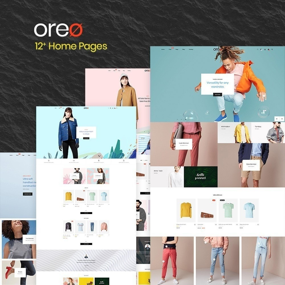 theme - Fashion & Shoes - Oreo Fashion & clothing shose trend 2018 - 2