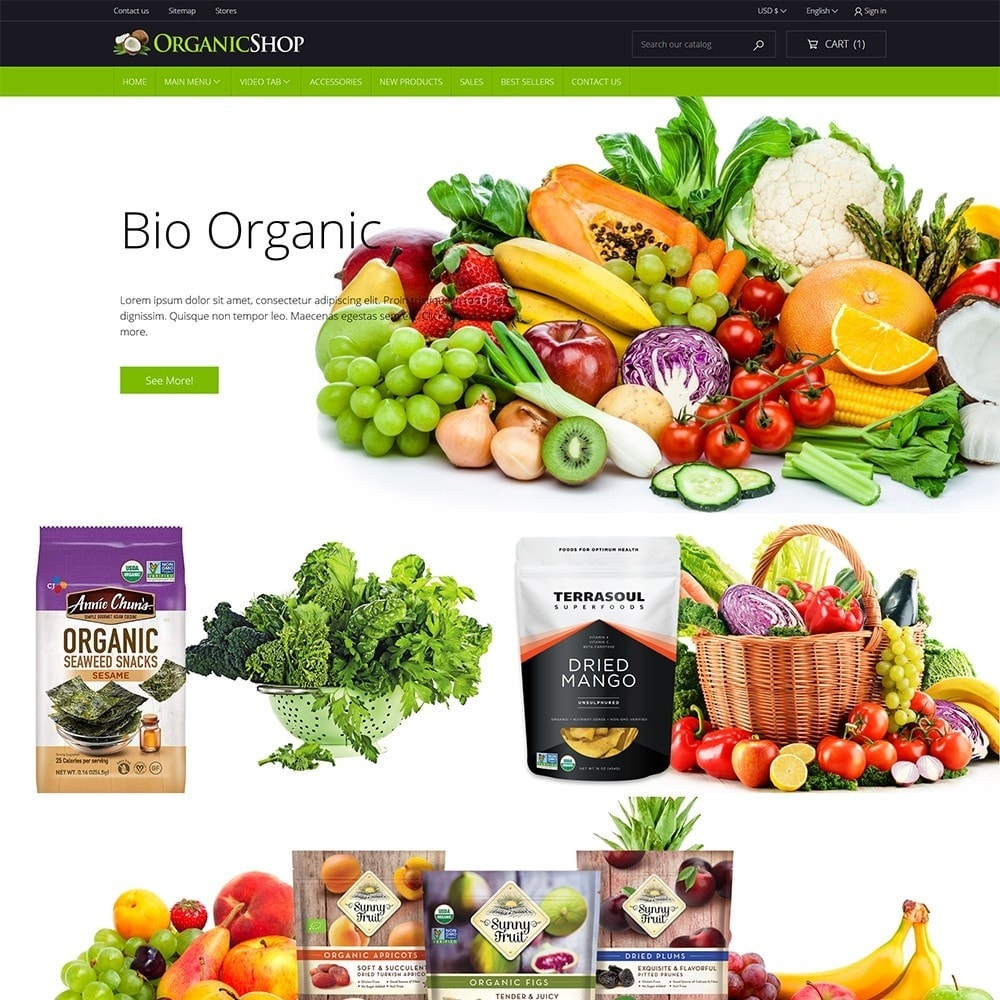 theme - Alimentation & Restauration - OrganicShop - 2