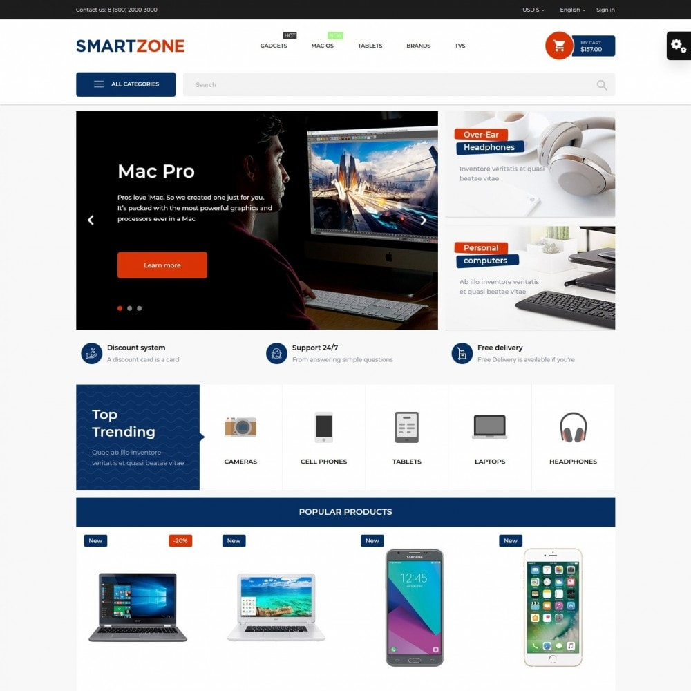 theme - Electronics & Computers - Smartzone - High-tech Shop - 2