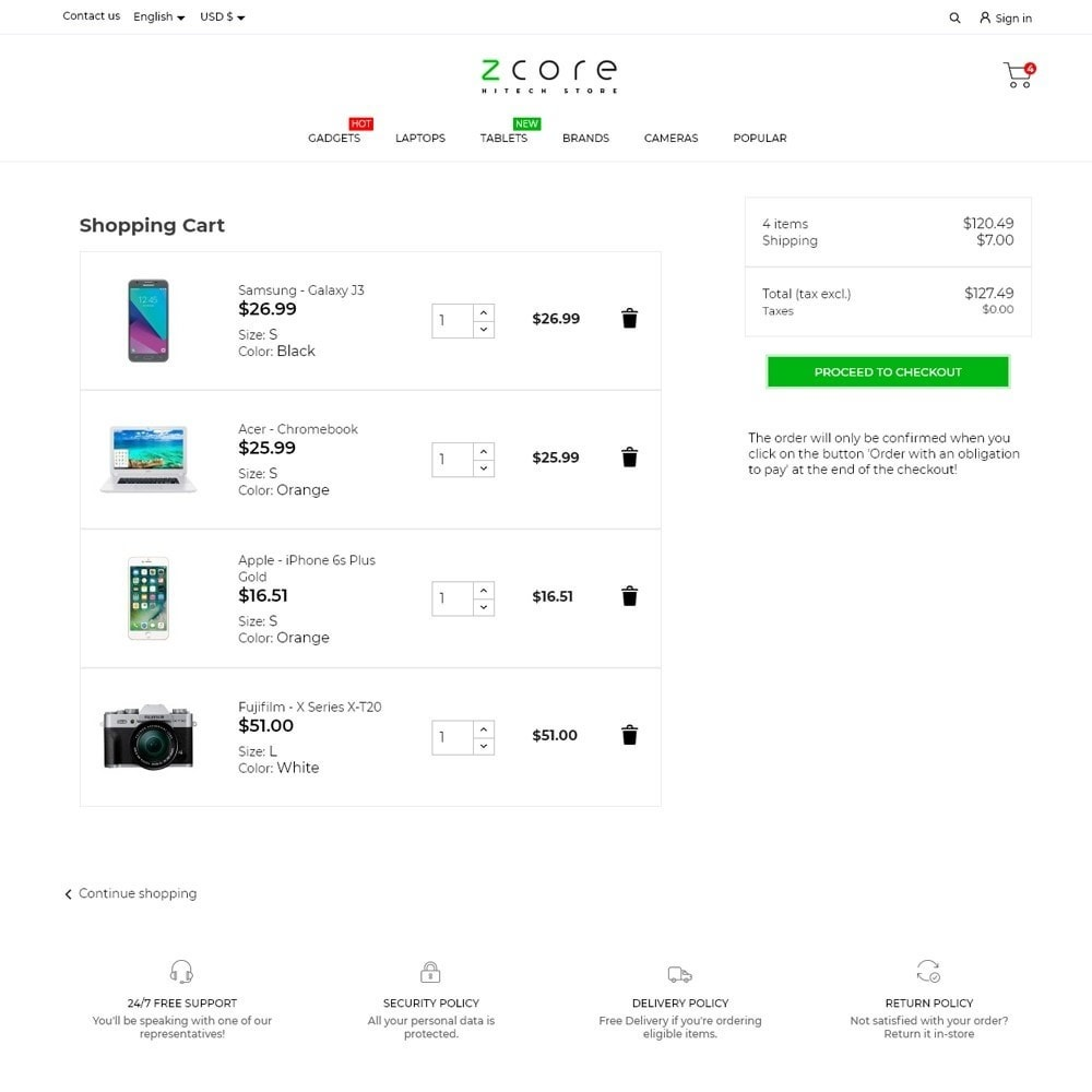 theme - Electronics & Computers - zCore - High-tech Shop - 7