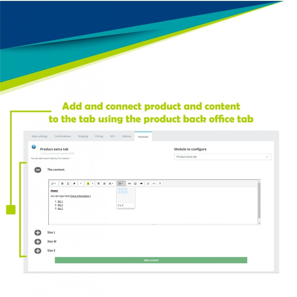 module - Additional Information & Product Tab - Product extra tabs - 15