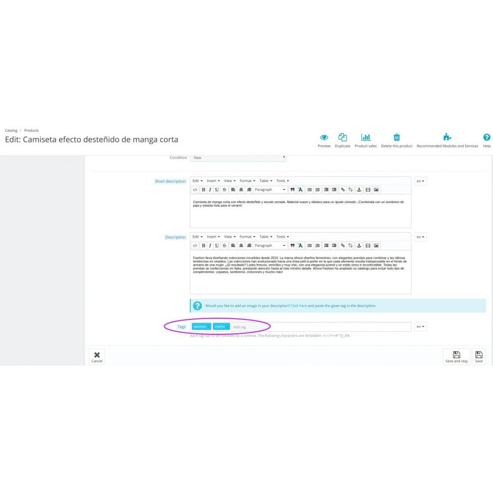 module - Szybkie & Masowe edytowanie - Get tags from categories - 3