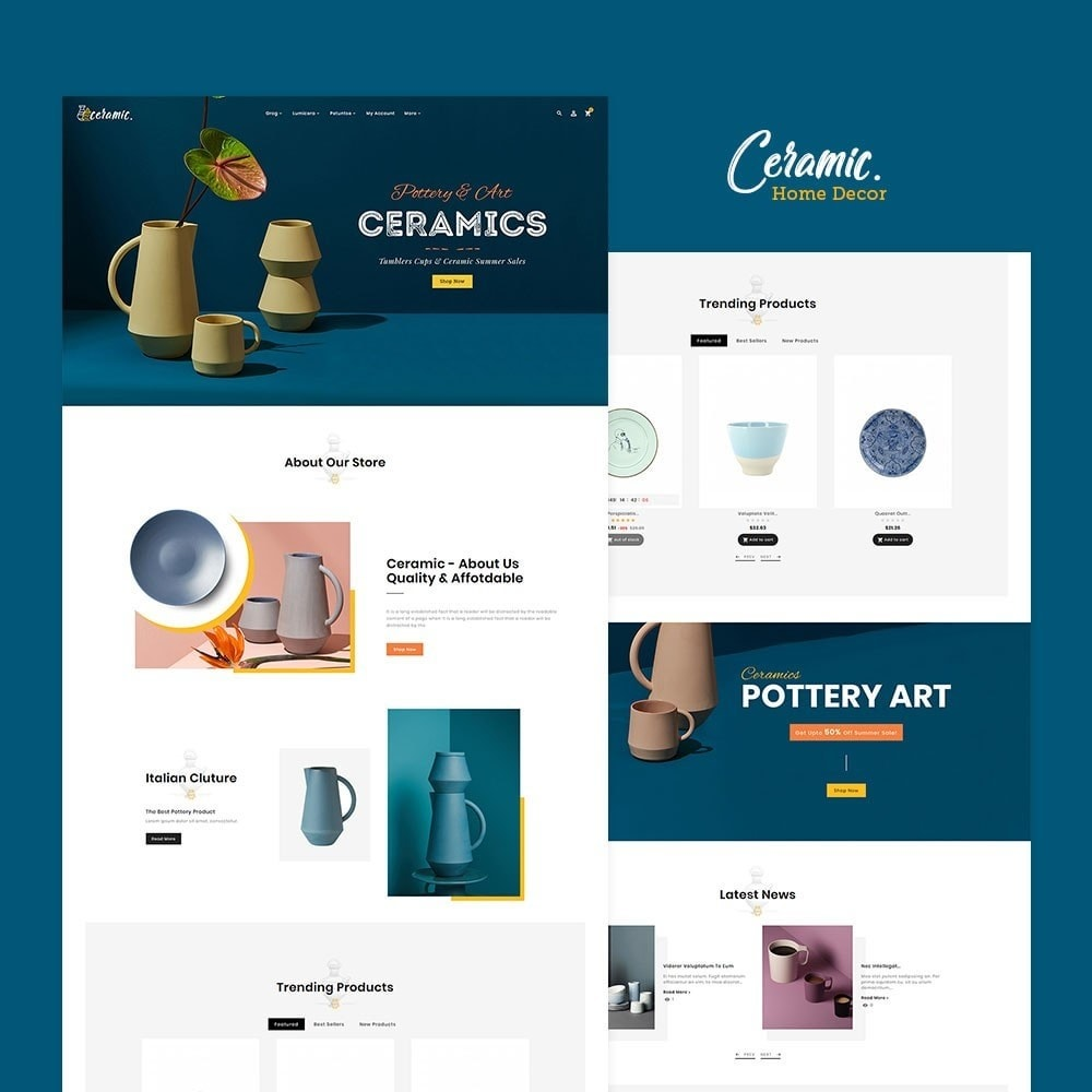 theme - Casa & Jardins - Ceramics & Pottery Decor - 2