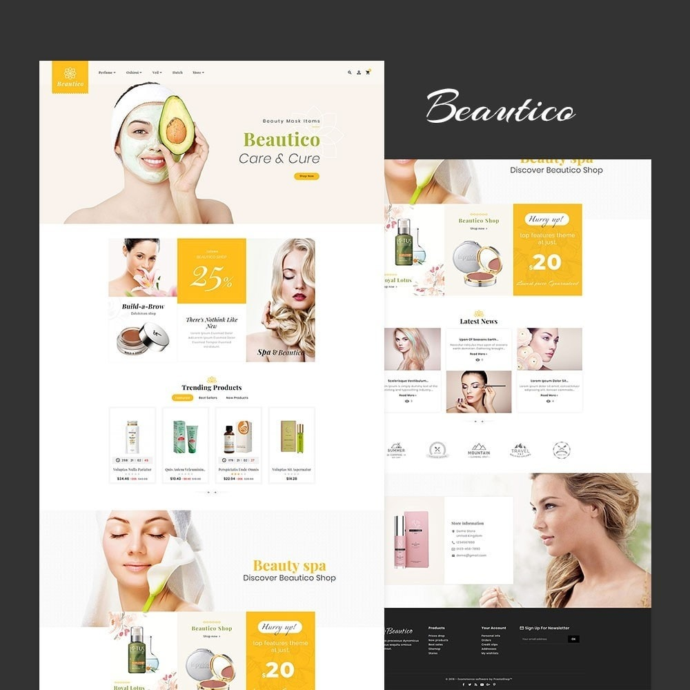 theme - Saúde & Beleza - Beautico Skin Care - 2