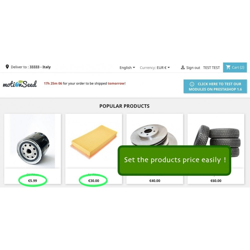 module - Promotions & Cadeaux - Advanced Products Price - 2