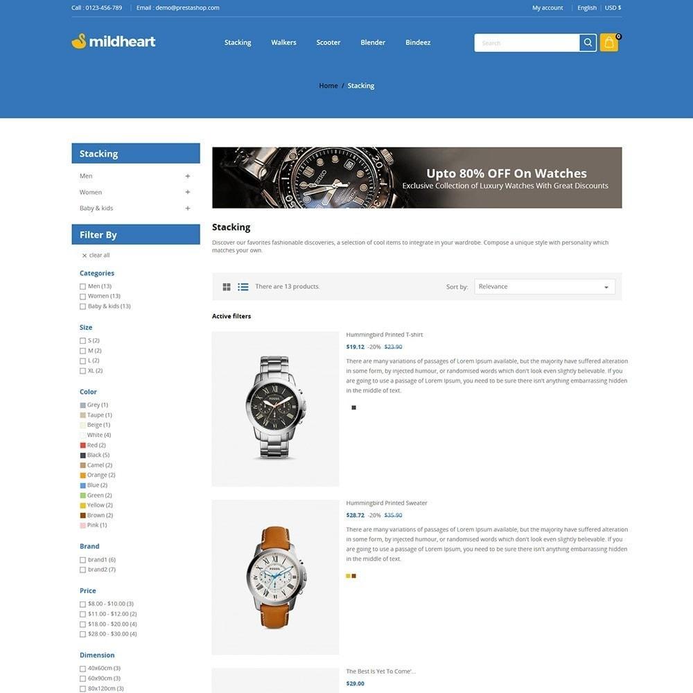 theme - Fashion & Shoes - Mildheart Watch  - Luxury Store - 4