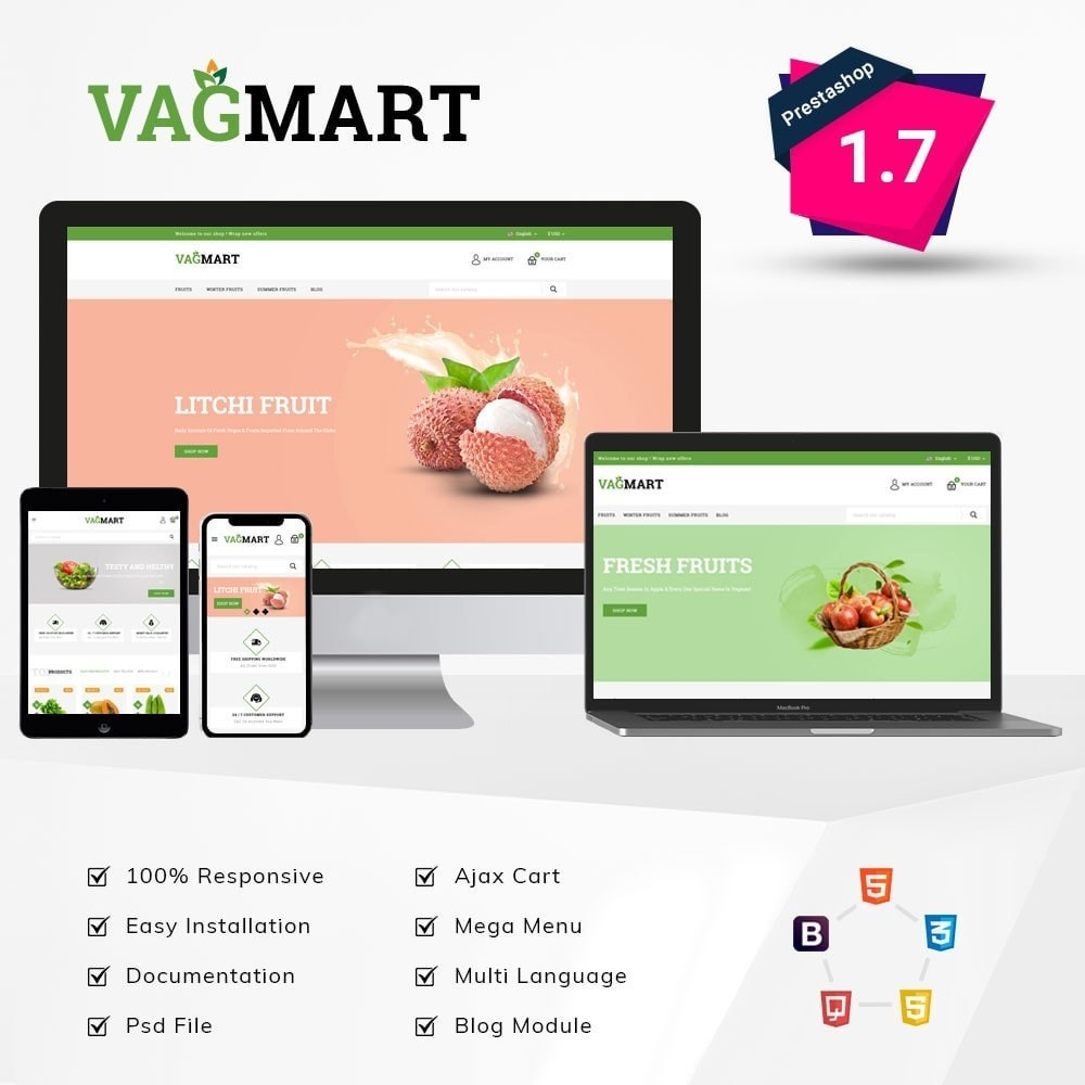 theme - Food & Restaurant - Vegmart grocery store - 1