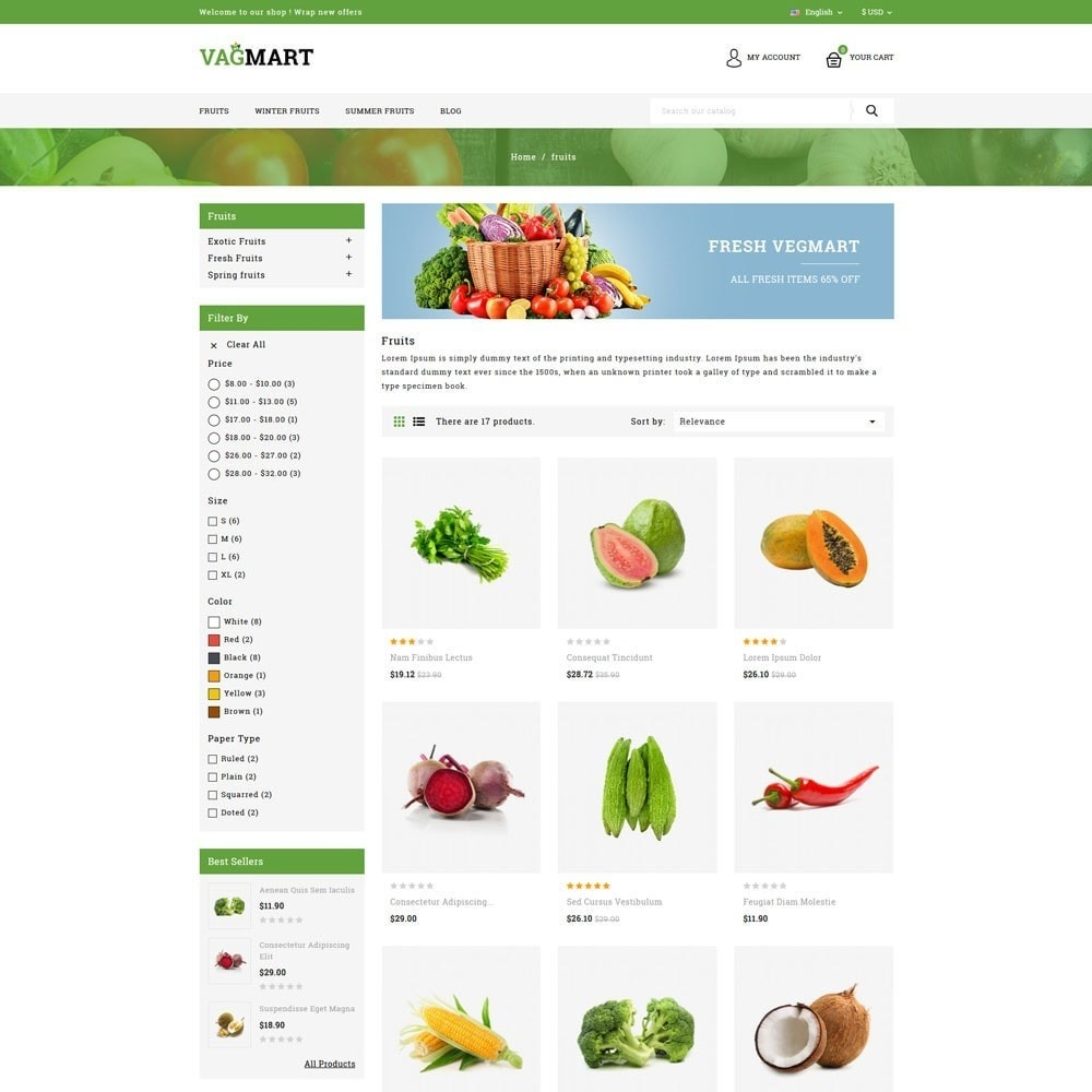theme - Food & Restaurant - Vegmart grocery store - 3