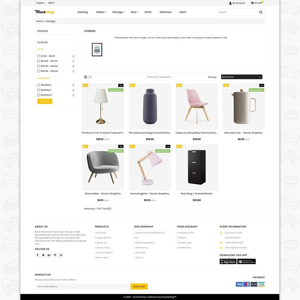 theme - Home & Garden - Woodwing  - The Best Furniture Store - 3