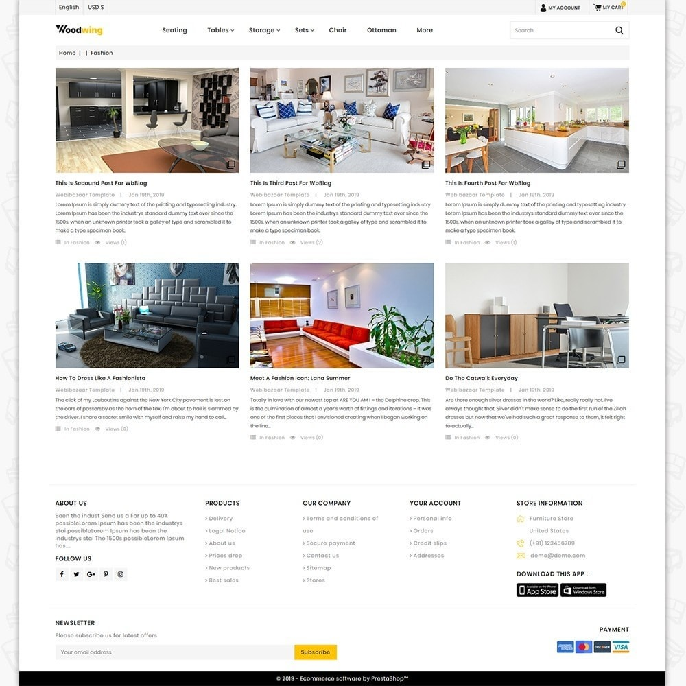theme - Home & Garden - Woodwing  - The Best Furniture Store - 6
