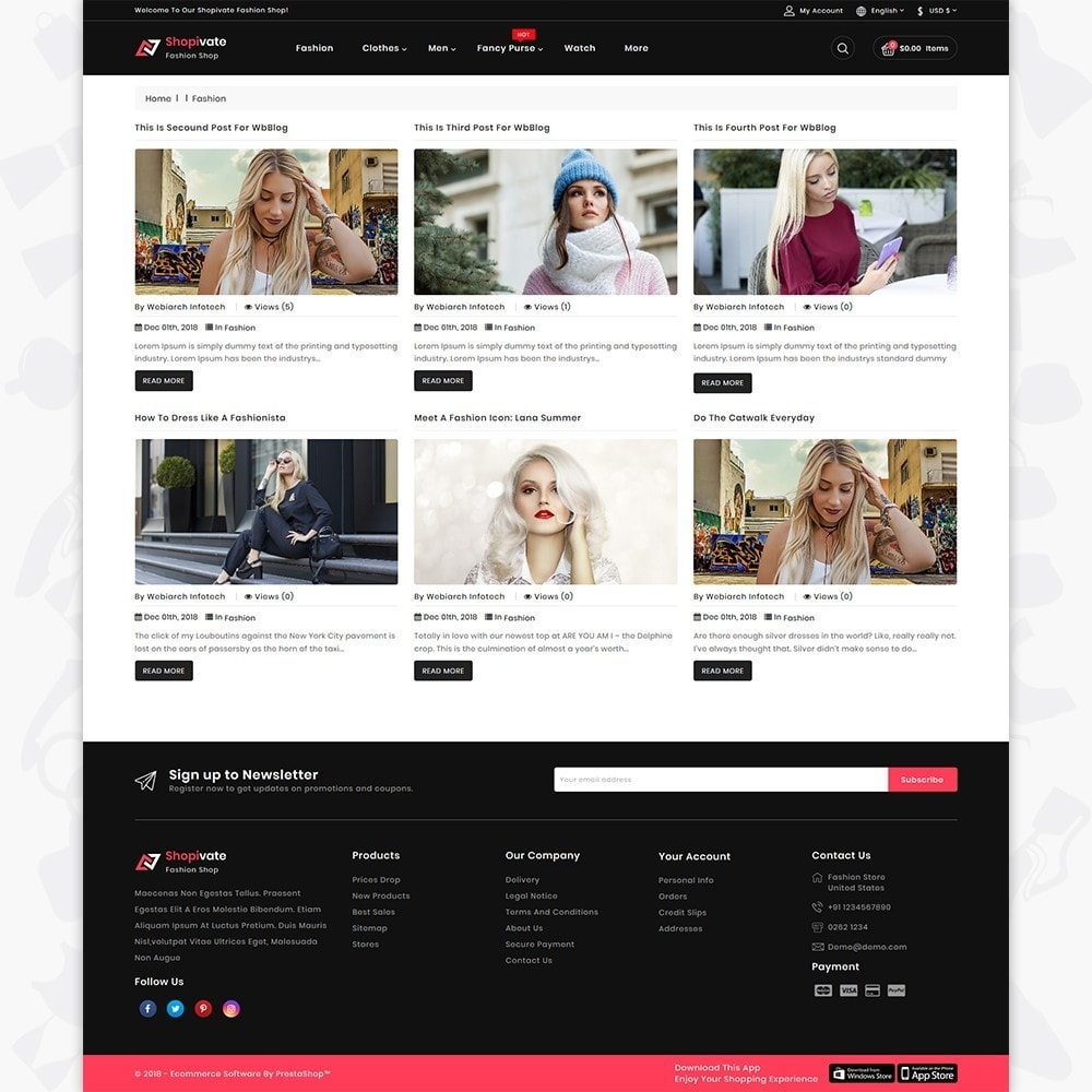 theme - Fashion & Shoes - Shopivate -  The Fashion Shop - 6
