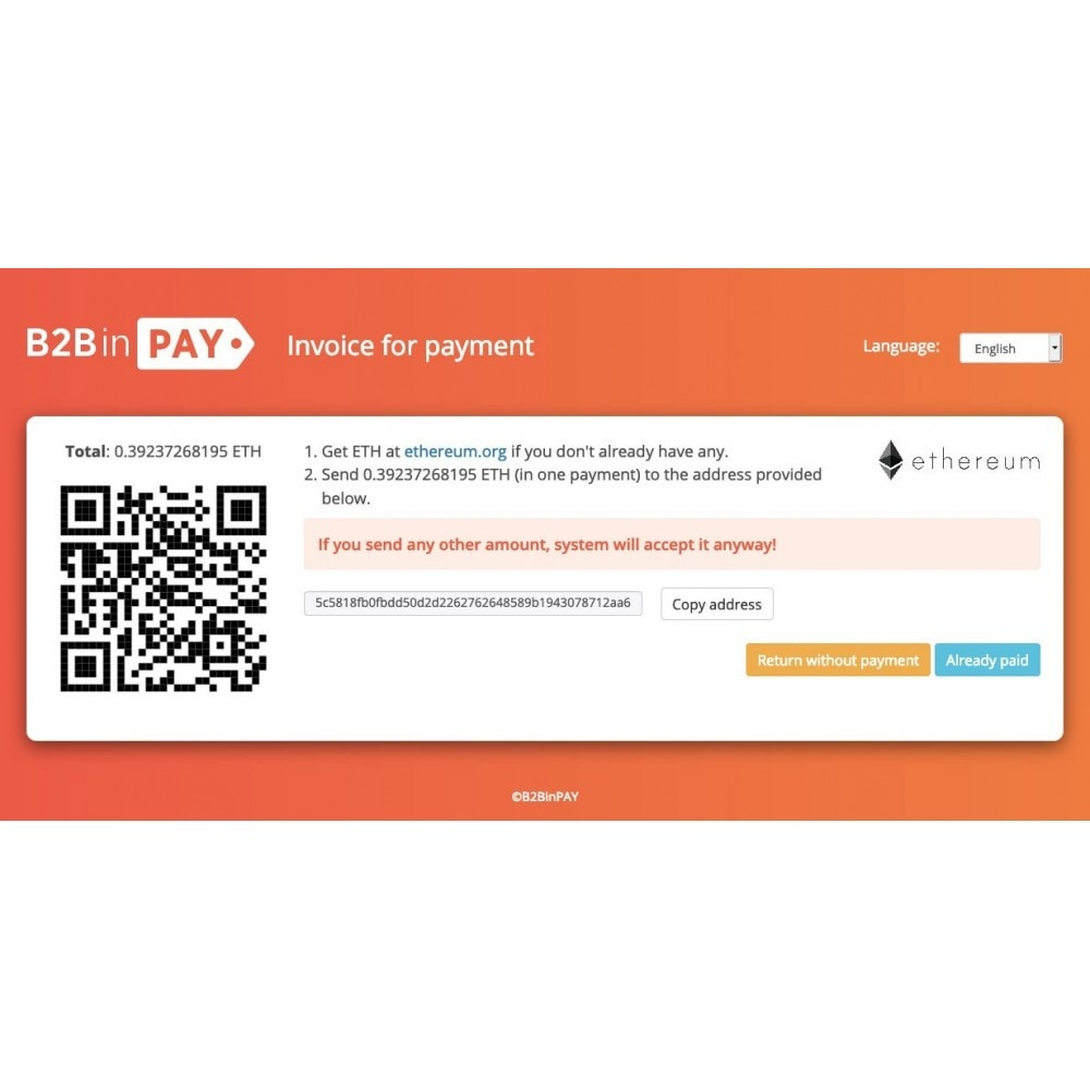module - Other Payment Methods - B2BinPay Crypto Payment Gateway - 4