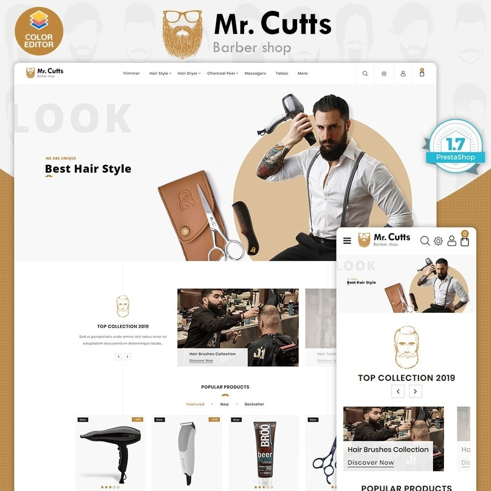 theme - Sports, Activities & Travel - Mr.Cutts - The Barber Store - 1
