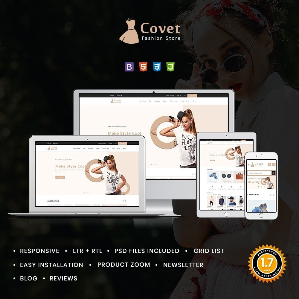 theme - Fashion & Shoes - Covet Fashion Shop - 1