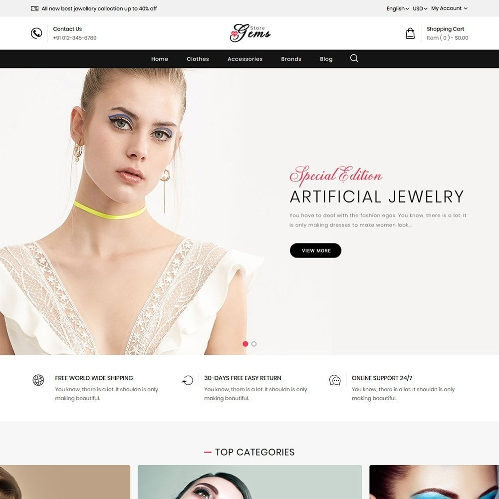 theme - Jewelry & Accessories - Gems Jewellery Store - 2