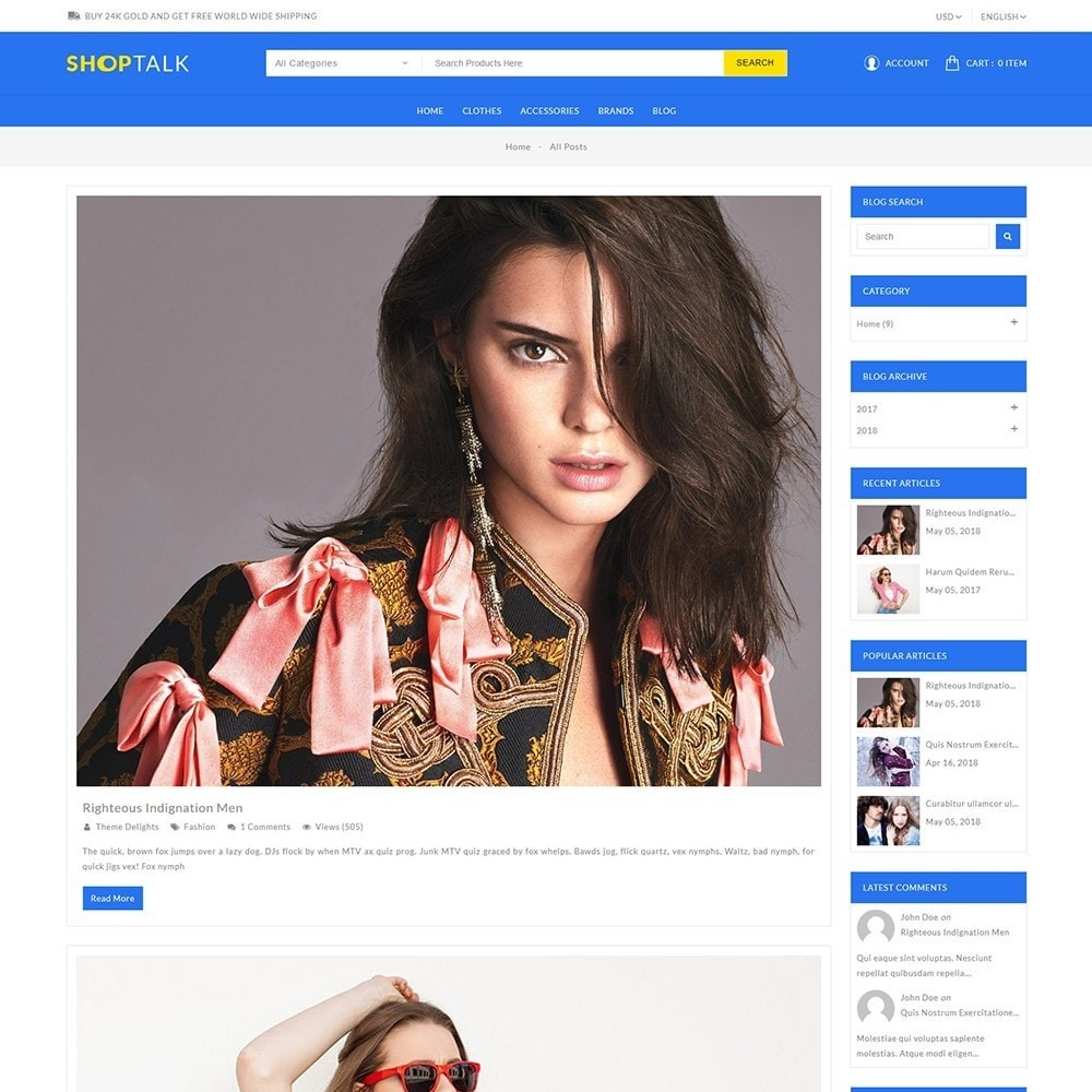 theme - Fashion & Shoes - Shoptalk Fashion Store - 9