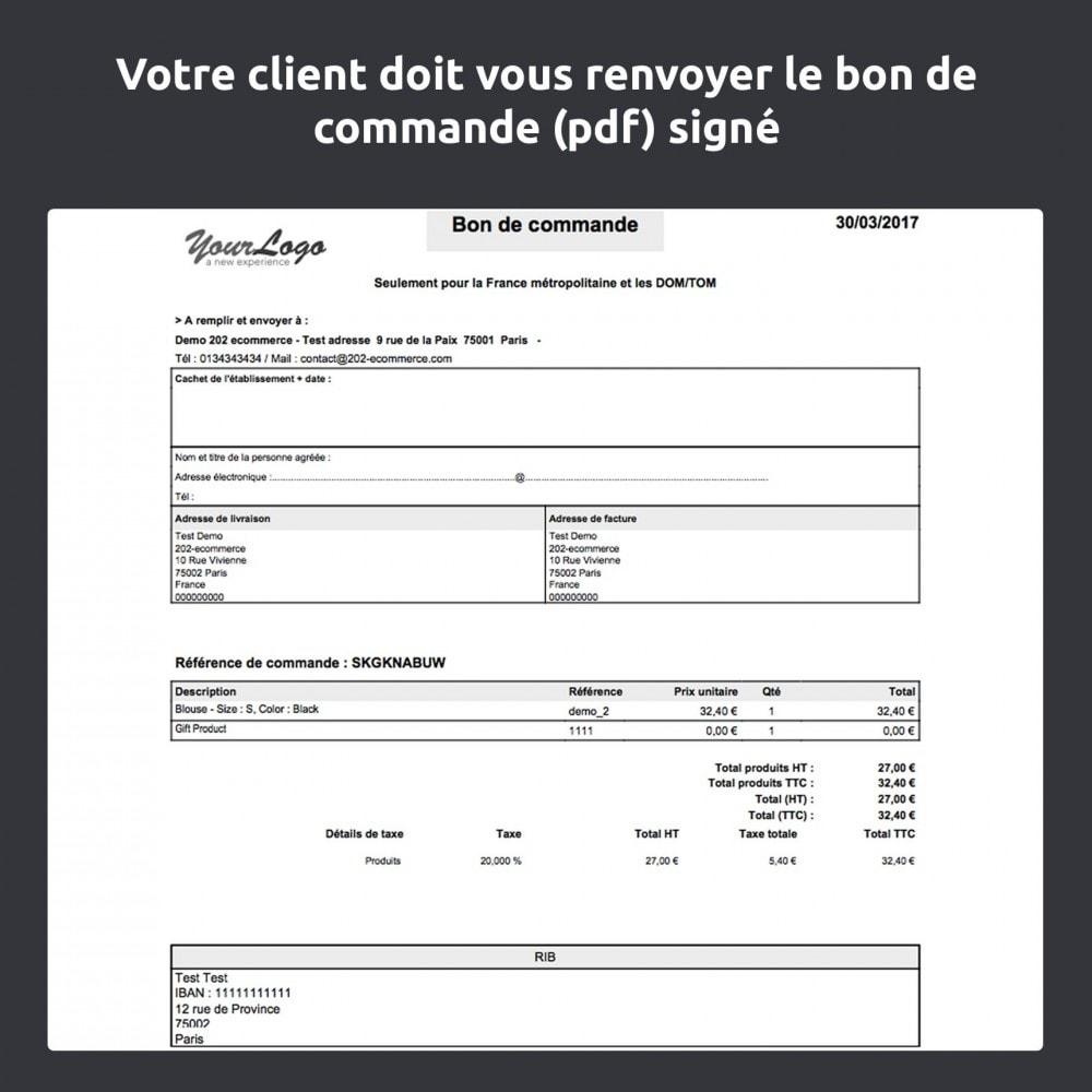 module - Paiement par Transfert Bancaire - Mandat administratif - 10