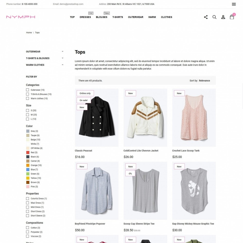 theme - Fashion & Shoes - Nymph Fashion Store - 5