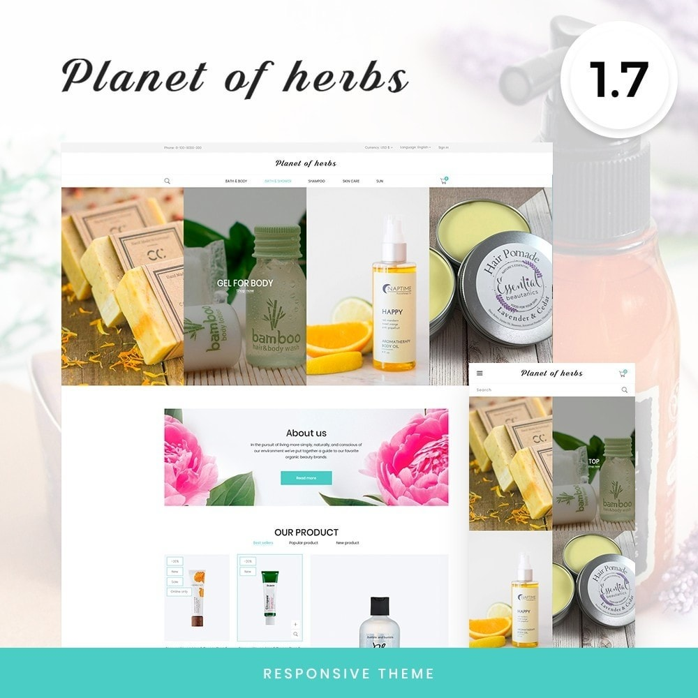 theme - Health & Beauty - Planet of herbs Cosmetics - 1