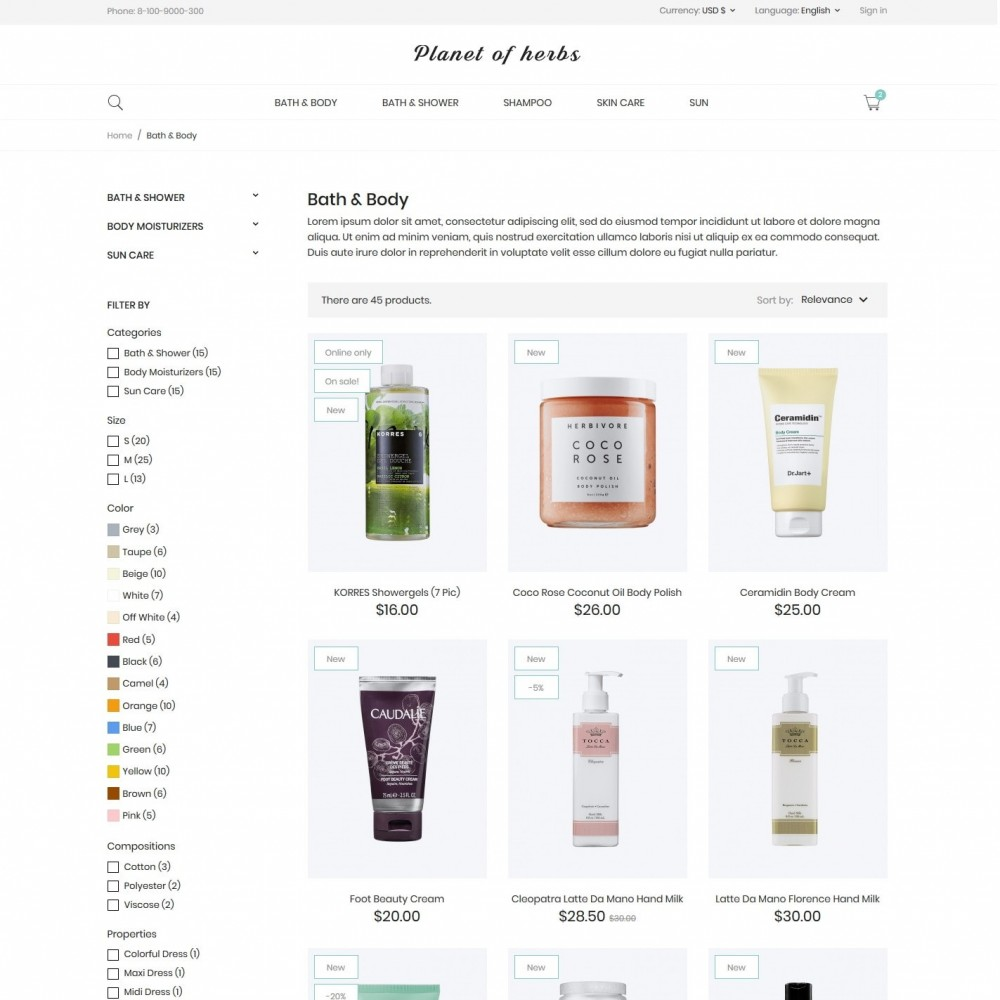theme - Health & Beauty - Planet of herbs Cosmetics - 5