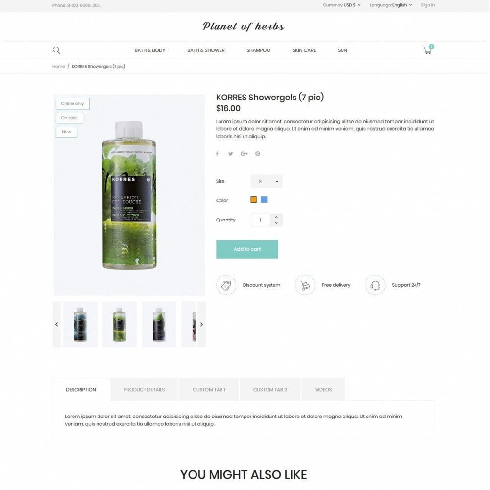 theme - Health & Beauty - Planet of herbs Cosmetics - 6