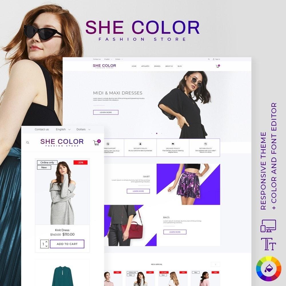 theme - Fashion & Shoes - she Color Fashion Store - 1
