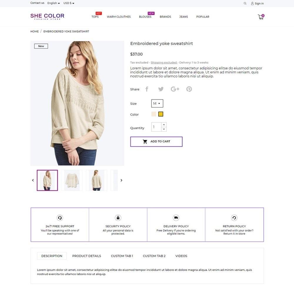 theme - Fashion & Shoes - she Color Fashion Store - 5