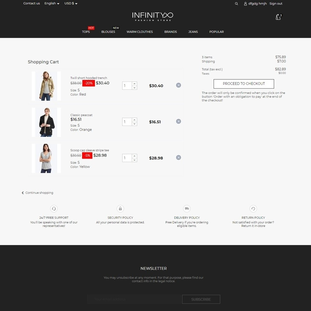 theme - Fashion & Shoes - Infinity Fashion Store - 7