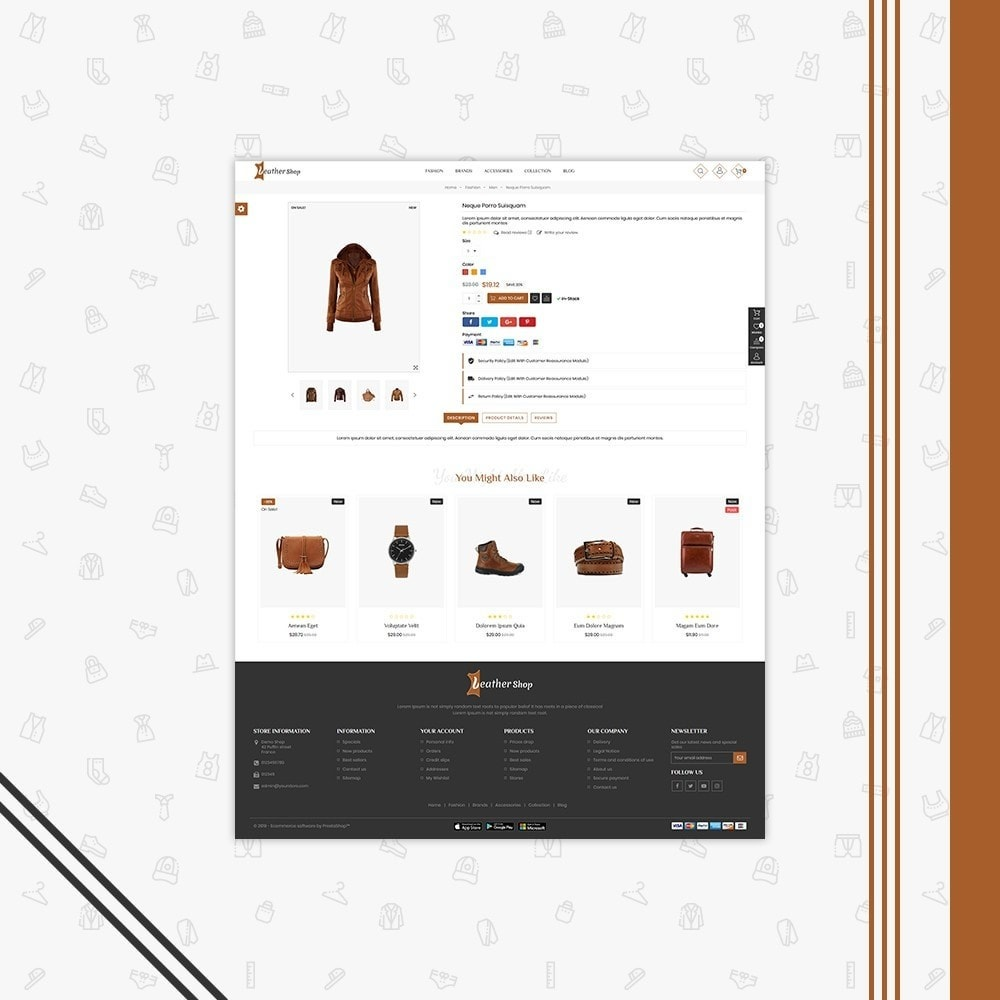 theme - Fashion & Shoes - Leather Shop - 5