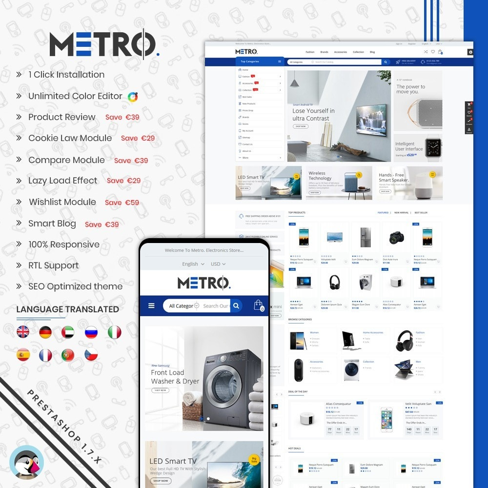 theme - Elektronika & High Tech - Metro Electronics Multi Store - 1