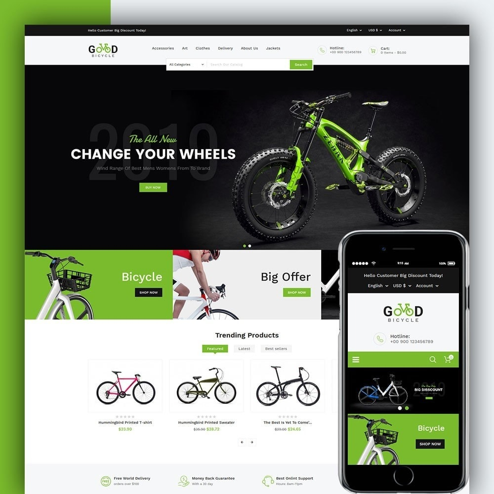 theme - Sports, Activities & Travel - Good Bicycle and Sports Store - 1