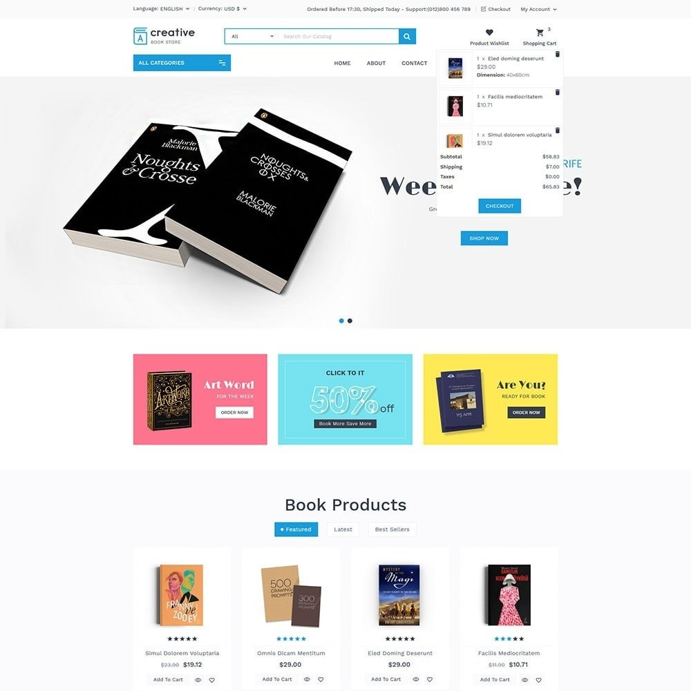 theme - Arte e Cultura - Creative Book Store - 2