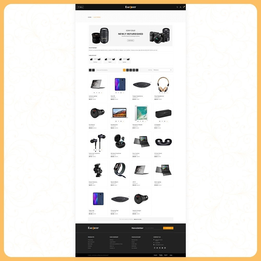 theme - Электроника и компьютеры - Elettronica Escocer- Electronic Shop - 5