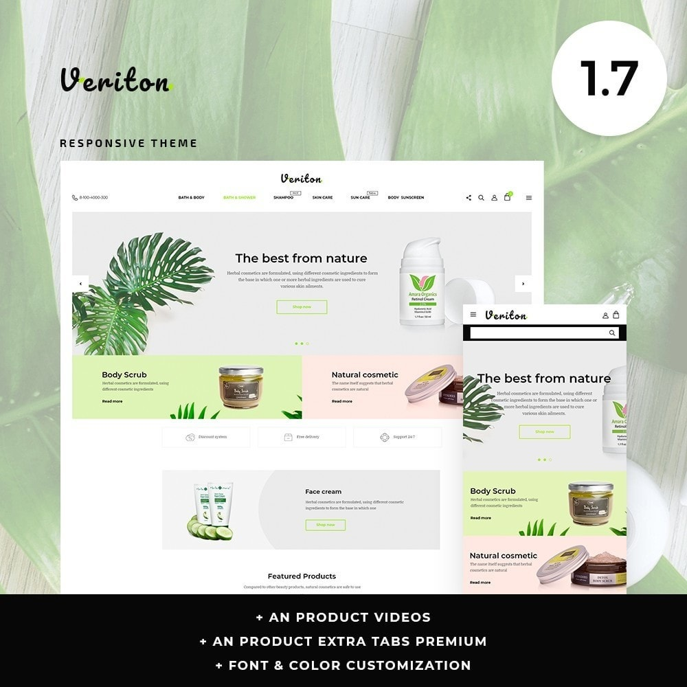 theme - Health & Beauty - Veriton Cosmetics - 1