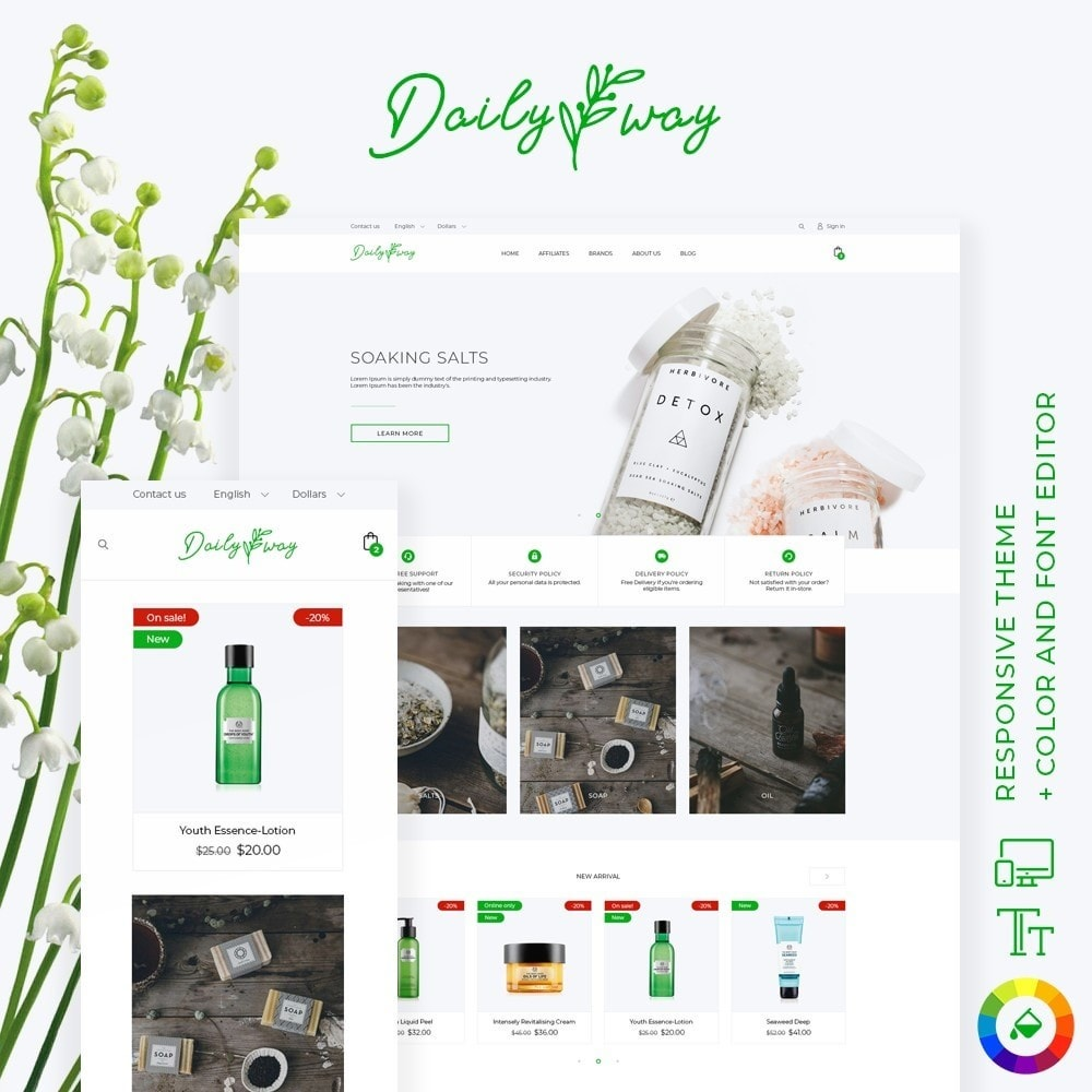 theme - Health & Beauty - Daily way Cosmetics - 1