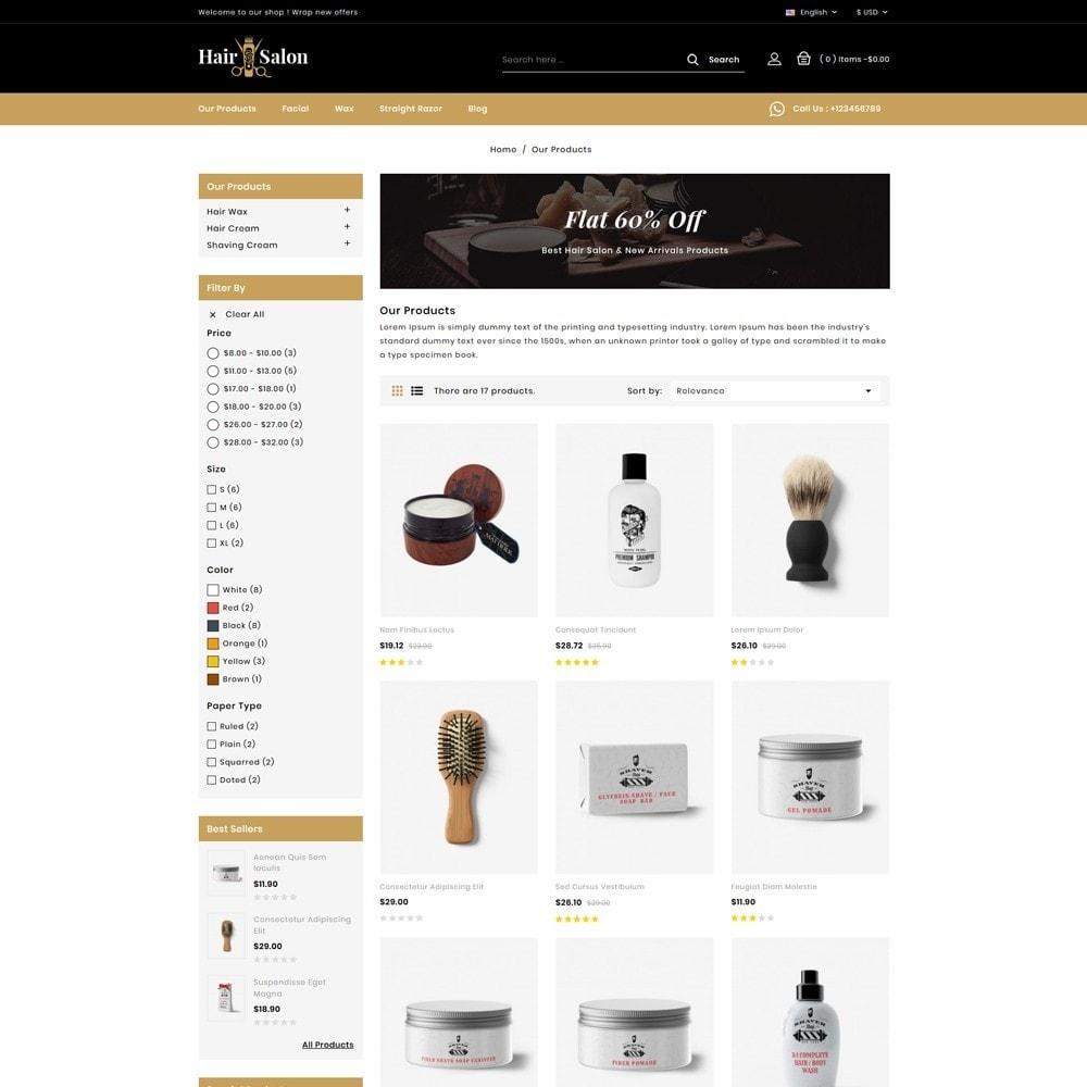 theme - Lingerie & Volwassenen - Hair Salon Store - 3