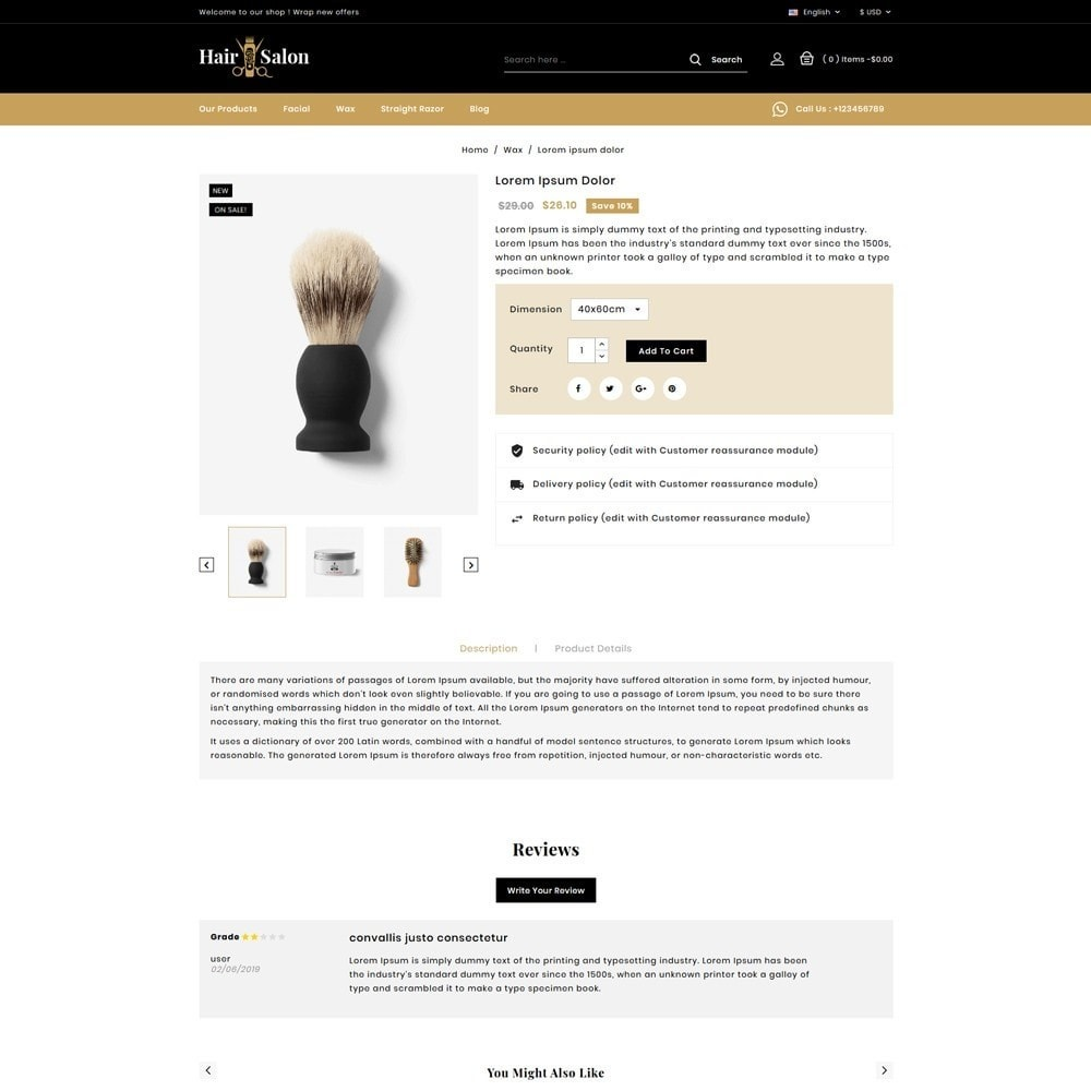 theme - Lingerie & Volwassenen - Hair Salon Store - 4