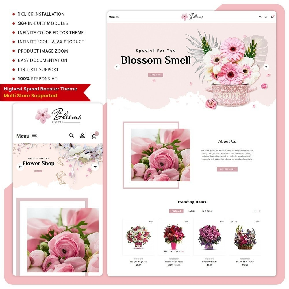 theme - Regali, Fiori & Feste - Fleur - Flower Super Mall - 1