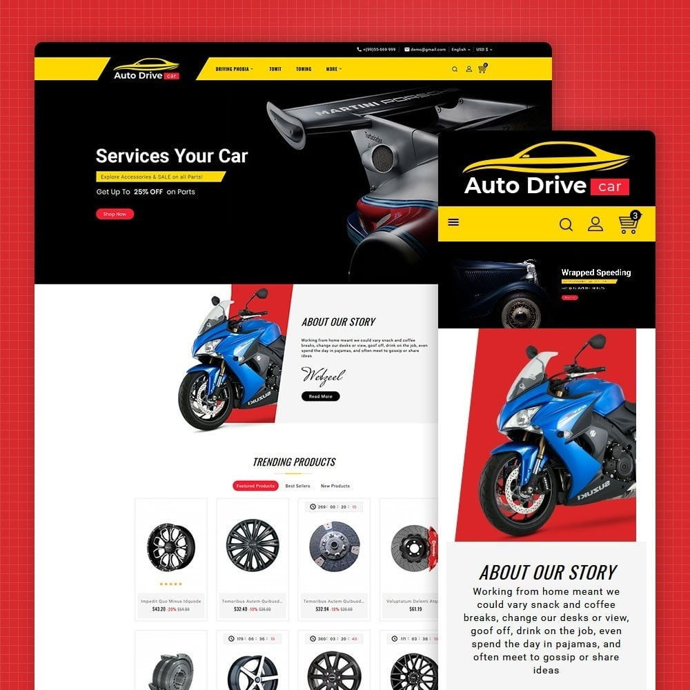 theme - Coches y Motos - Auto Drive & Car Parts - 1