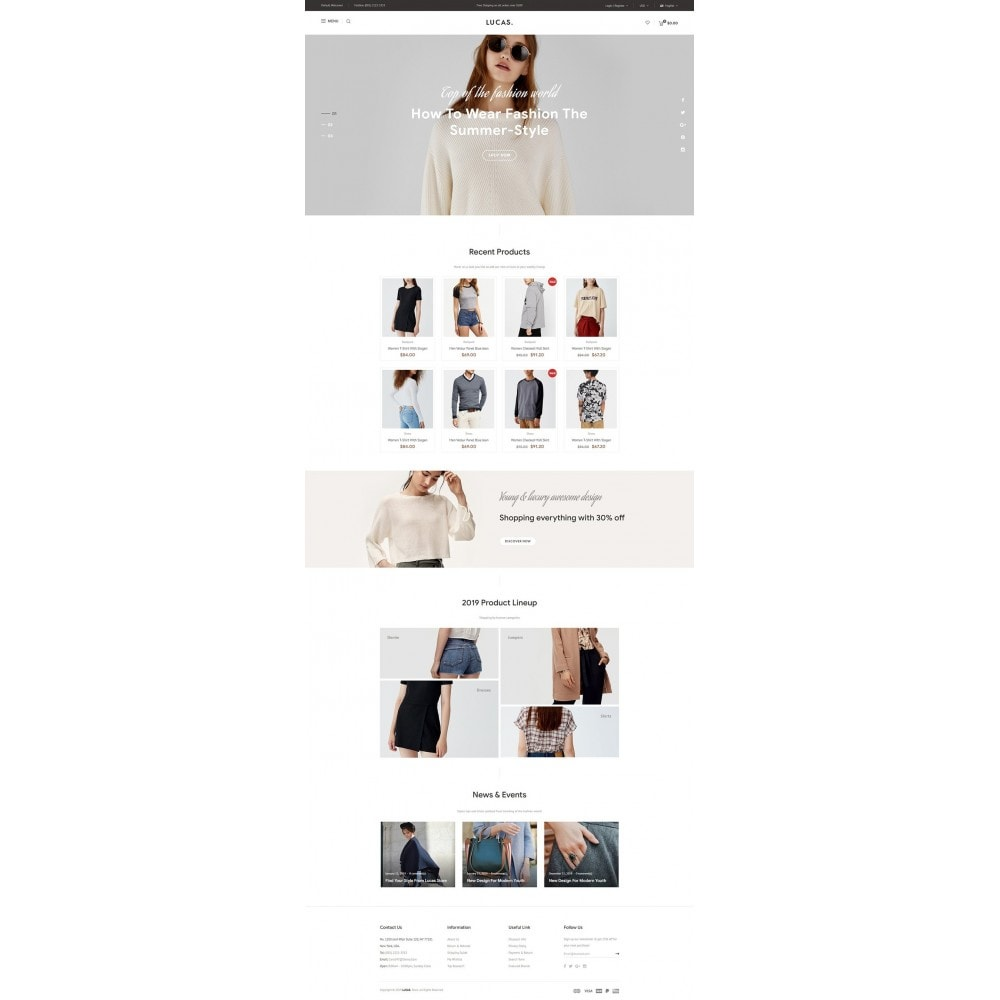 theme - Mode & Chaussures - Lucas - Premium Fashion Theme - 8