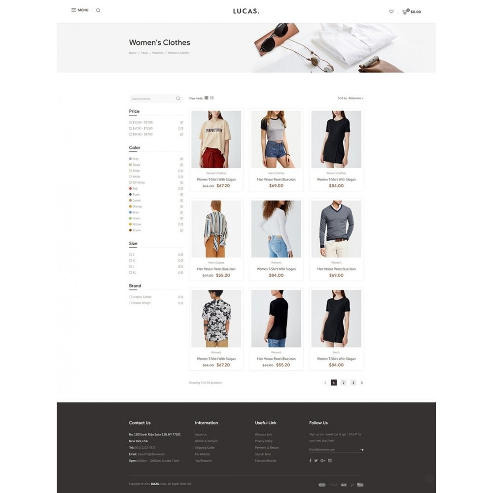 theme - Mode & Chaussures - Lucas - Premium Fashion Theme - 10