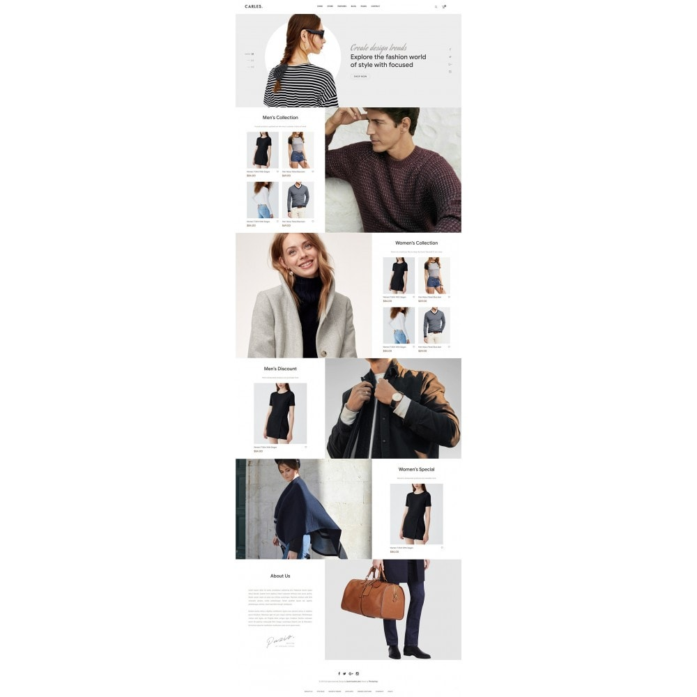theme - Fashion & Shoes - Carles - Modern Fashion Theme - 9
