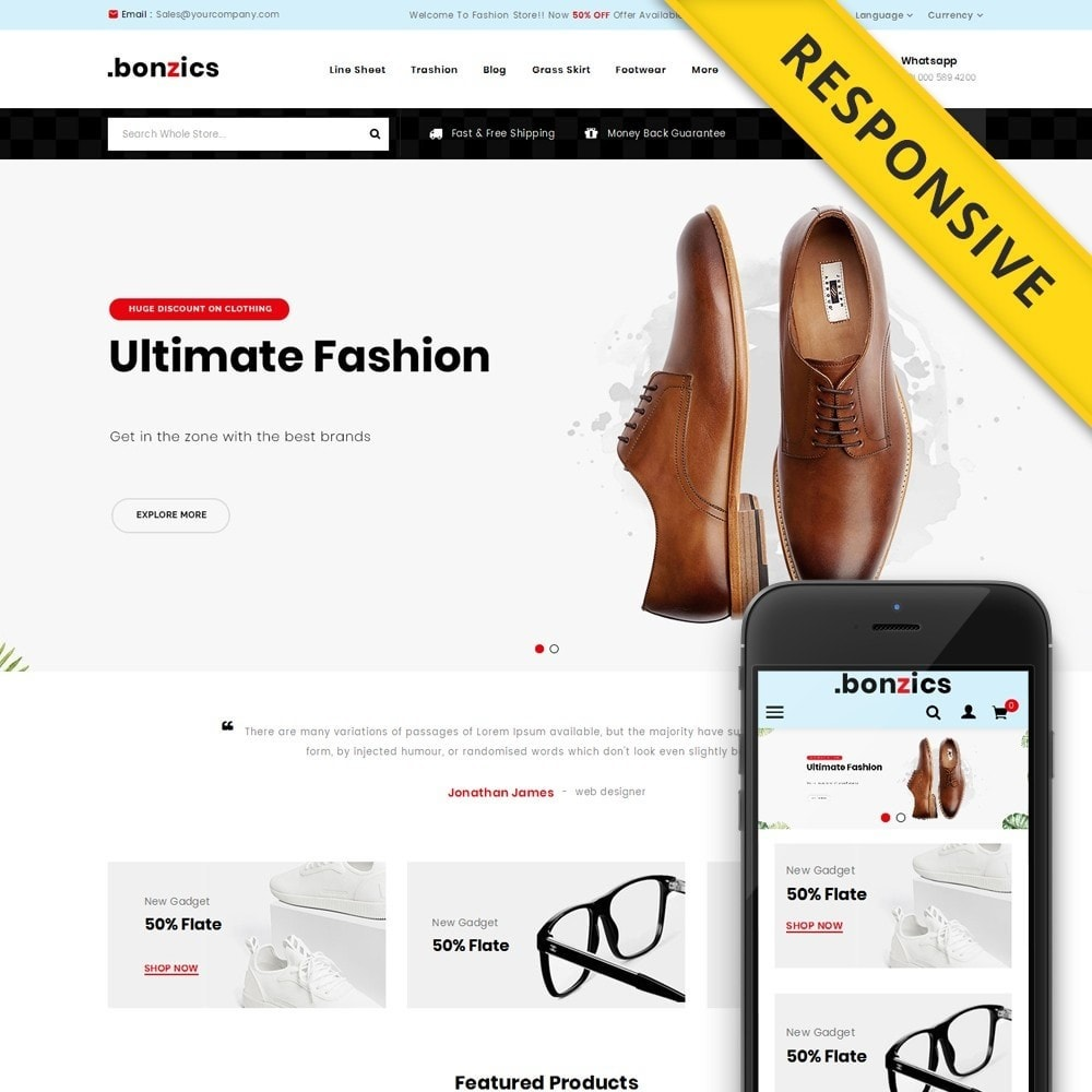 theme - Mode & Chaussures - Bonzics - Fashion Shop - 1