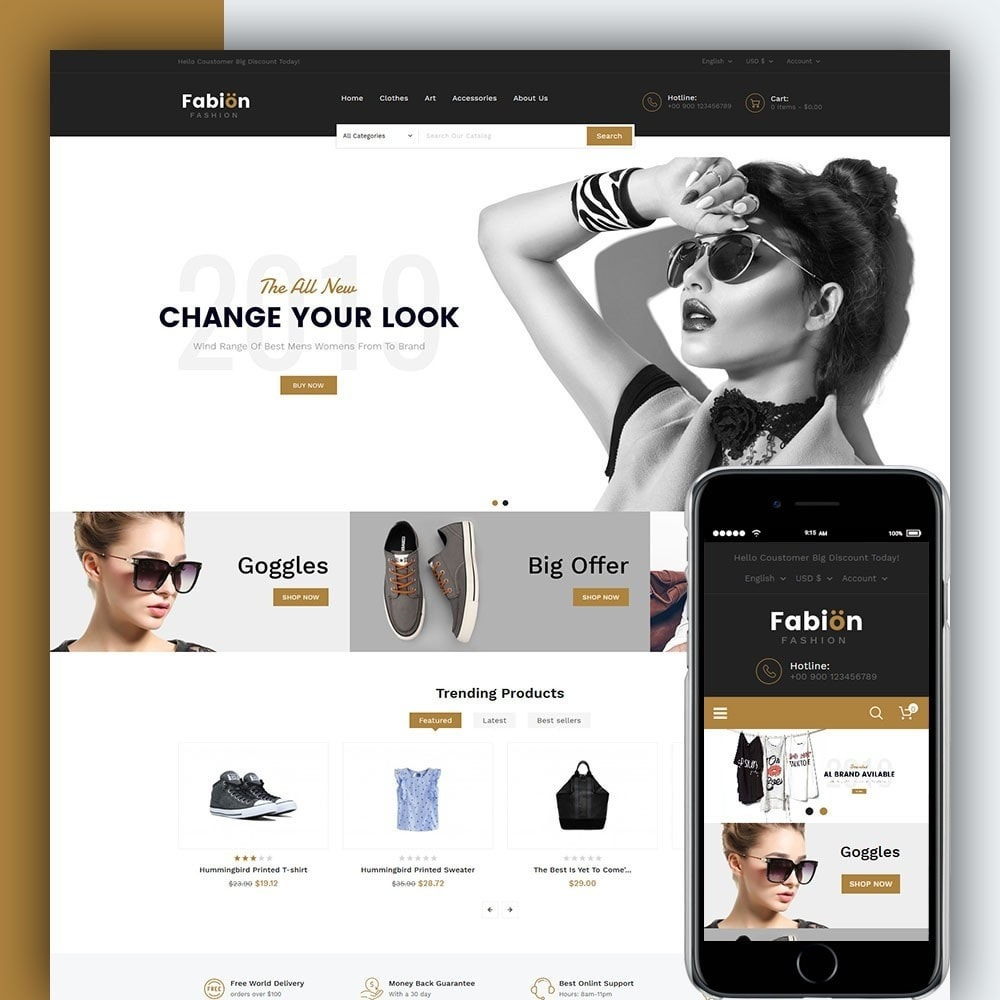 theme - Мода и обувь - Fabion Fashion Store - 1