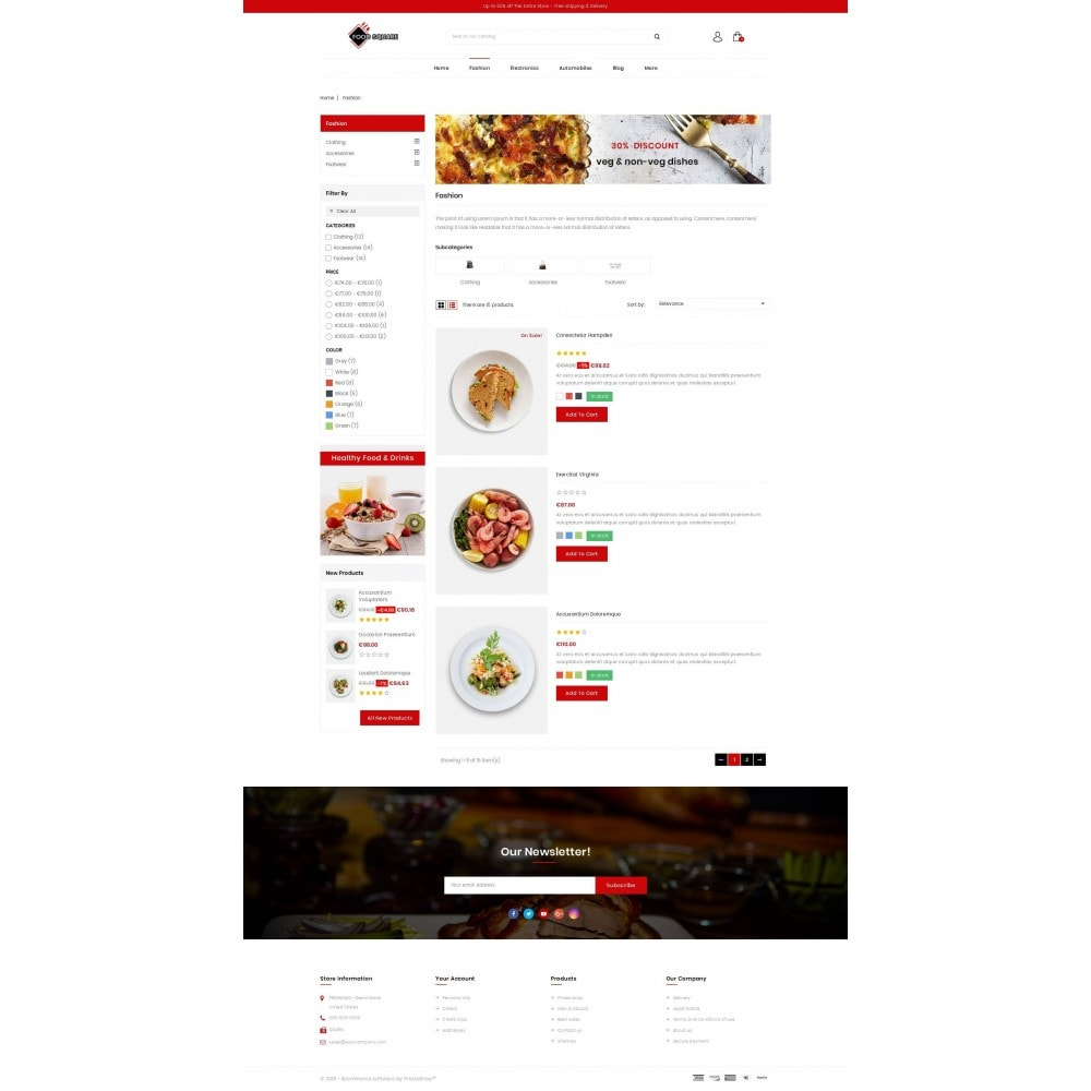 theme - Продовольствие и рестораны - Food Square - Restaurant Store - 4
