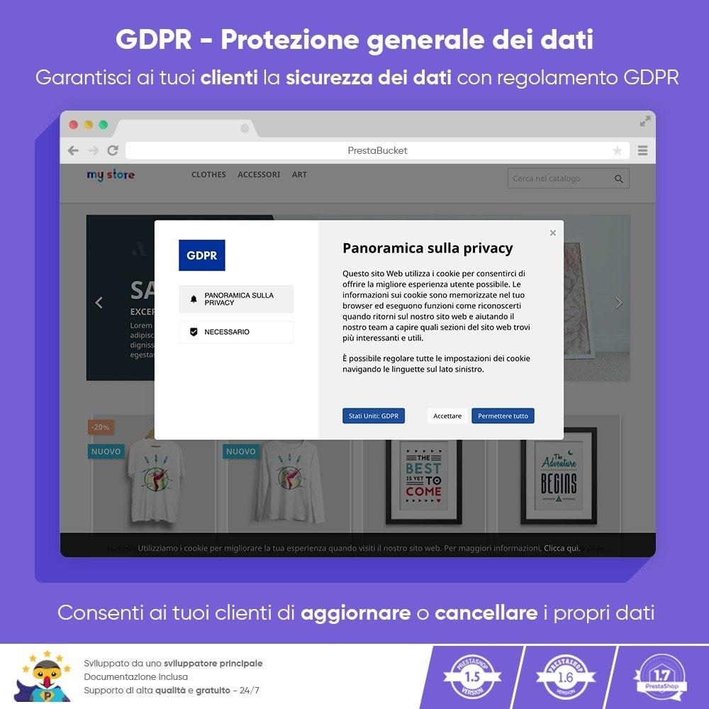 module - Legale (Legge Europea) - RGPD - Regolamento Generale sulla Protezione dei Dati - 1