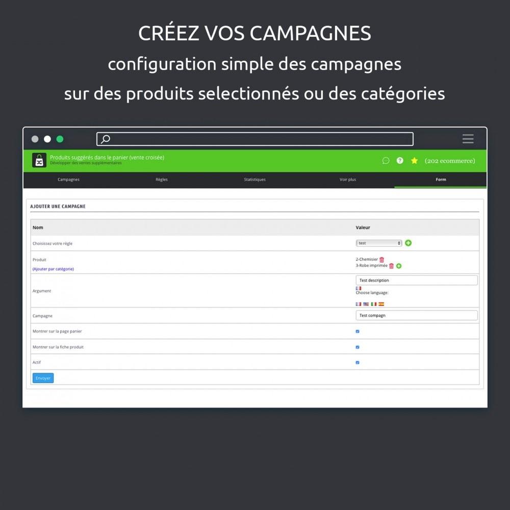 module - Ventes croisées & Packs de produits - Suggestion produits dans le panier (cross selling) - 6
