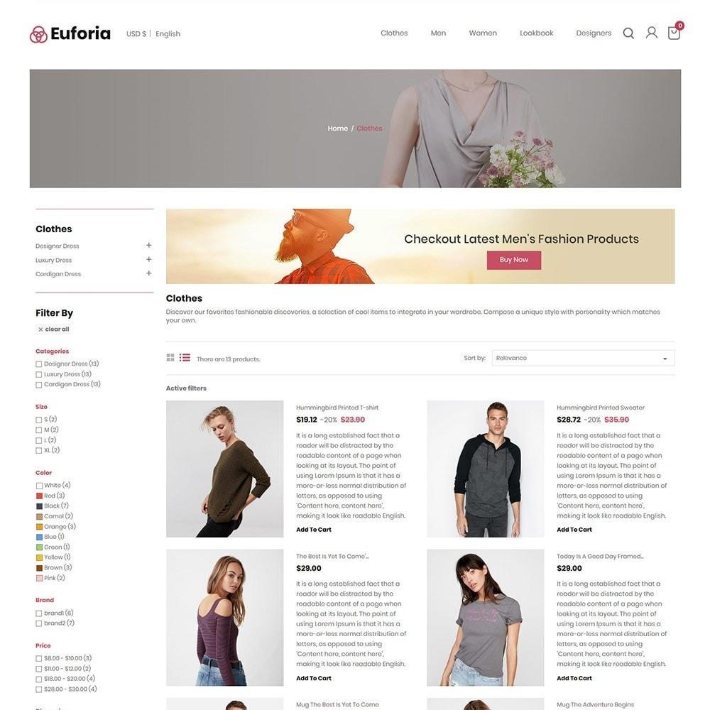 theme - Fashion & Shoes - Euforia Designer  - Fashion Cloth  Store - 3