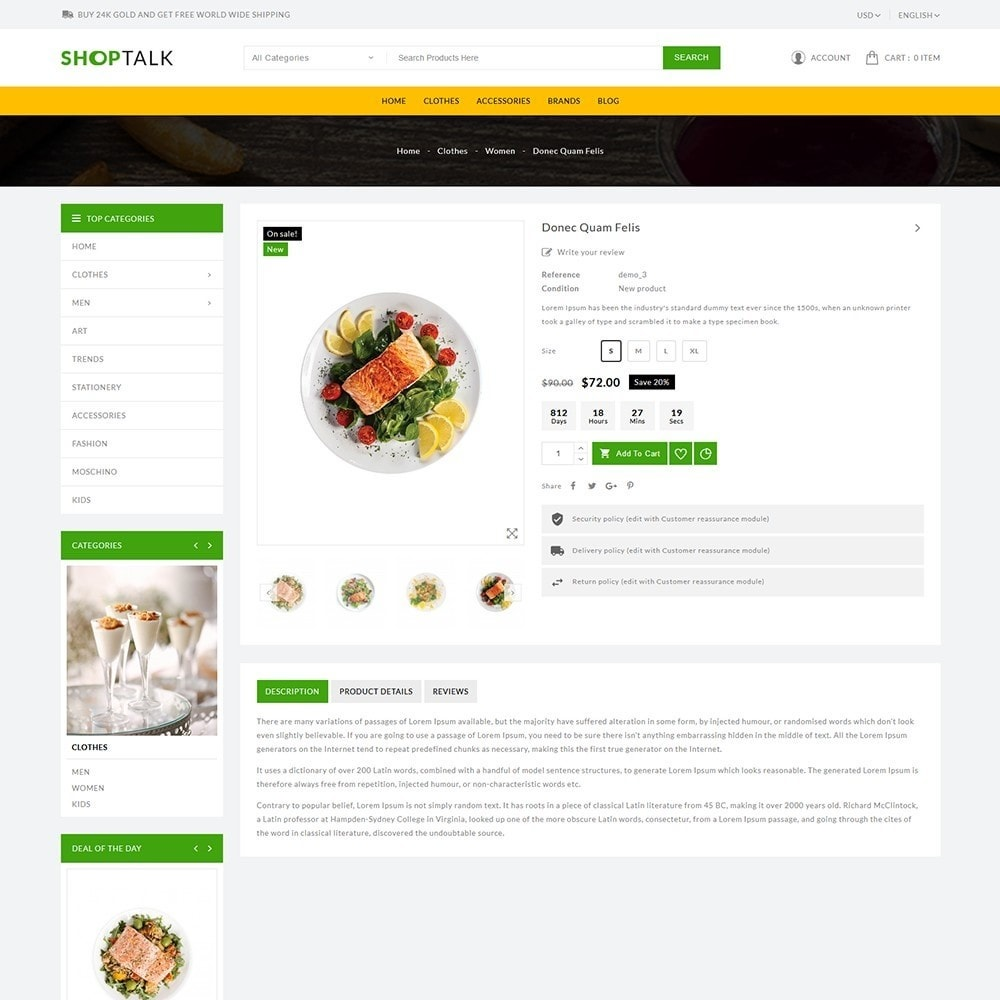 theme - Food & Restaurant - ShopTalk Food Store - 6