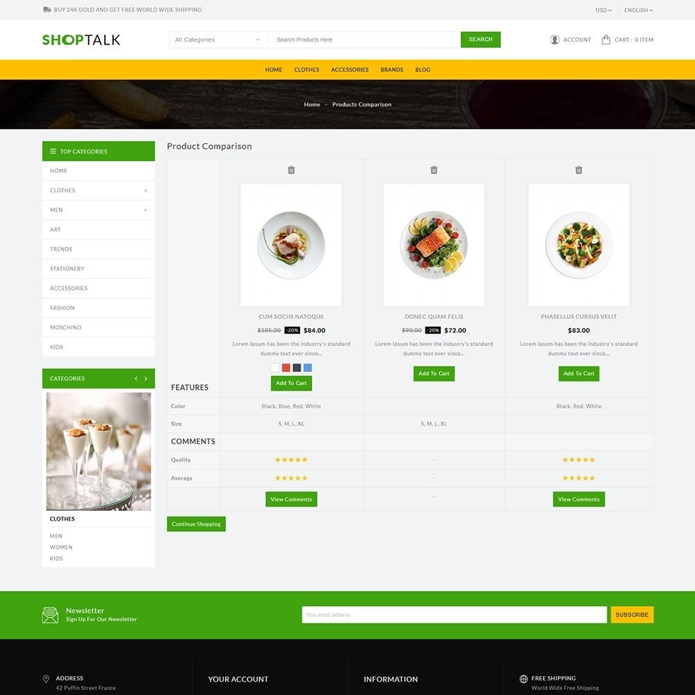 theme - Food & Restaurant - ShopTalk Food Store - 7